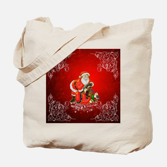 Christmas, Santa Claus Tote Bag