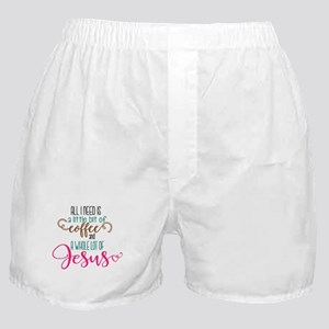 coffee and jesus Boxer Shorts