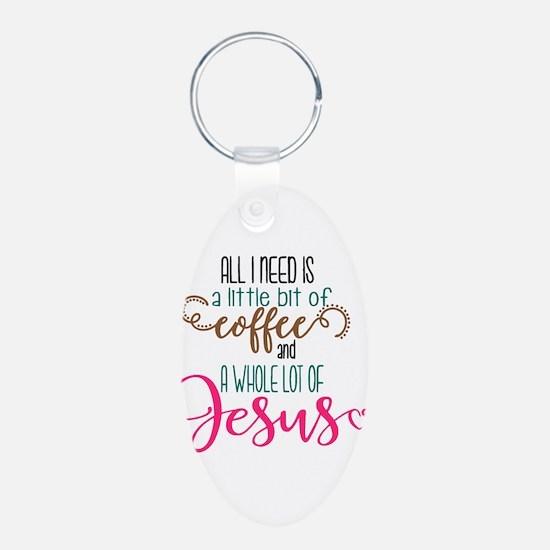 coffee and jesus Keychains