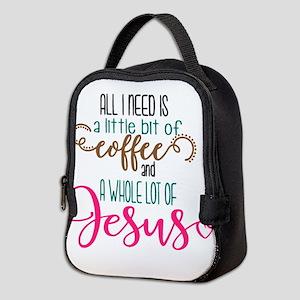 coffee and jesus Neoprene Lunch Bag