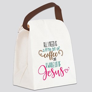 coffee and jesus Canvas Lunch Bag