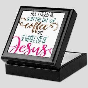 coffee and jesus Keepsake Box