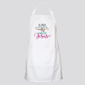 coffee and jesus Apron