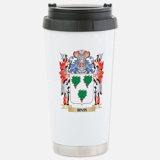 Irvin Coat of Arms - Fa Stainless Steel Travel Mug