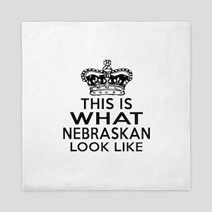 This Is What Nebraska Look Like Queen Duvet