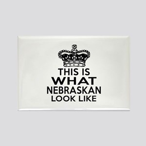 This Is What Nebraska Look Like Rectangle Magnet