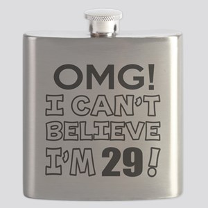 17 Not Growing Old Birthday Flask