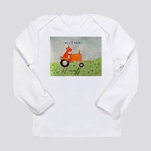 orange tractor Long Sleeve T-Shirt