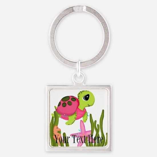 Pink Sea Turtle Keychains