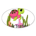 Pink Sea Turtle Sticker