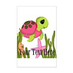 Pink Sea Turtle Posters