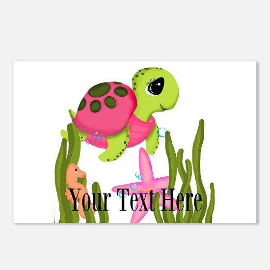 Pink Sea Turtle Postcards (Package of 8)