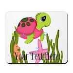 Pink Sea Turtle Mousepad