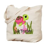 Pink Sea Turtle Tote Bag