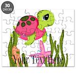 Pink Sea Turtle Puzzle