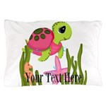 Pink Sea Turtle Pillow Case