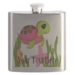Pink Sea Turtle Flask