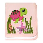 Pink Sea Turtle baby blanket