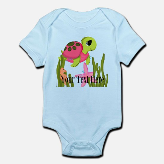 Pink Sea Turtle Body Suit