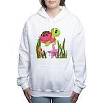 Pink Sea Turtle Women's Hooded Sweatshirt