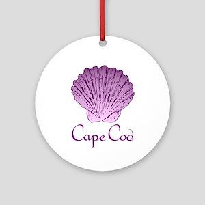 Cape Cod Scallop Shell Round Ornament