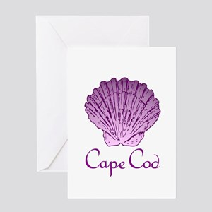 Cape Cod Scallop Shell Greeting Cards