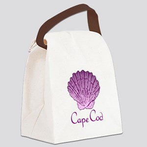 Cape Cod Scallop Shell Canvas Lunch Bag