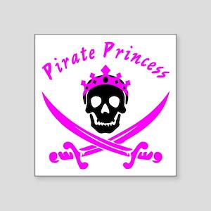 "Pirate Princess Square Sticker 3"" x 3"""