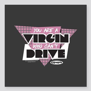 """Clueless - Virgin Can't Square Car Magnet 3"""" x 3"""""""