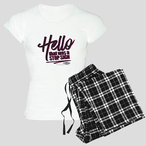 Clueless - Hello Stop Sign Women's Light Pajamas