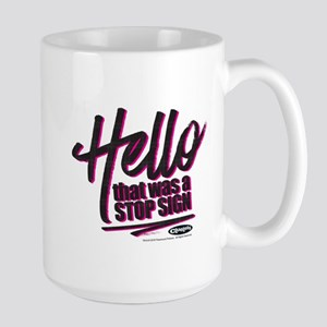 Clueless - Hello Stop Sign Large Mug