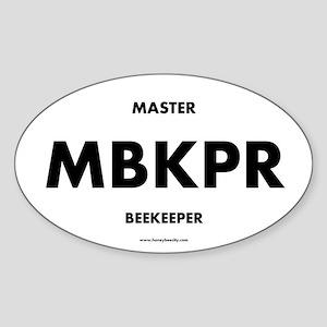 Master Beekeeper Sticker (Oval)
