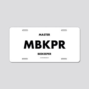 Master Beekeeper Aluminum License Plate