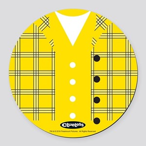 Clueless - Yellow Round Car Magnet