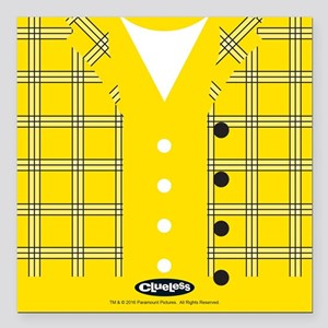 """Clueless - Yellow Square Car Magnet 3"""" x 3"""""""