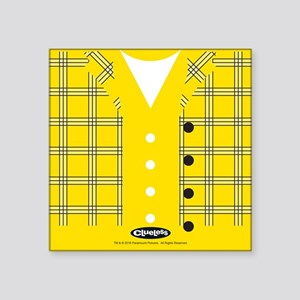 "Clueless - Yellow Square Sticker 3"" x 3"""