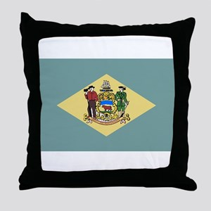 Flag of Delaware Throw Pillow