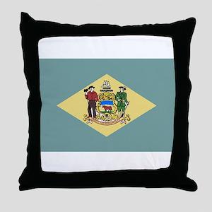 Flag of Delaware Throw Pillow