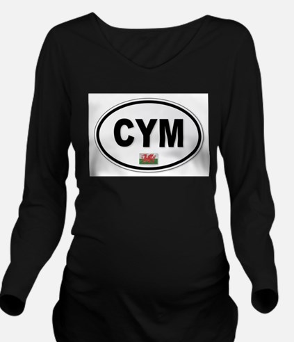 CYM Plate Long Sleeve Maternity T-Shirt