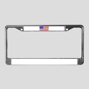 Civil War Union Flag License Plate Frame