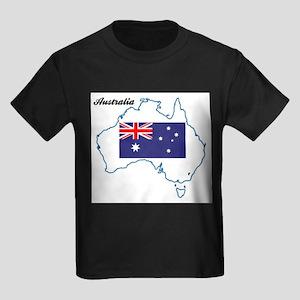 Australia Map and Flag T-Shirt