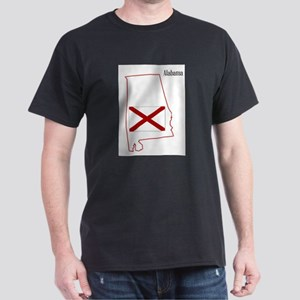 Alabama State Flag and Map T-Shirt