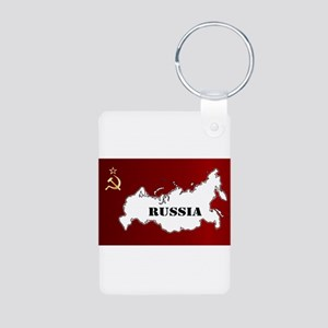 Russian Flag and Map Keychains