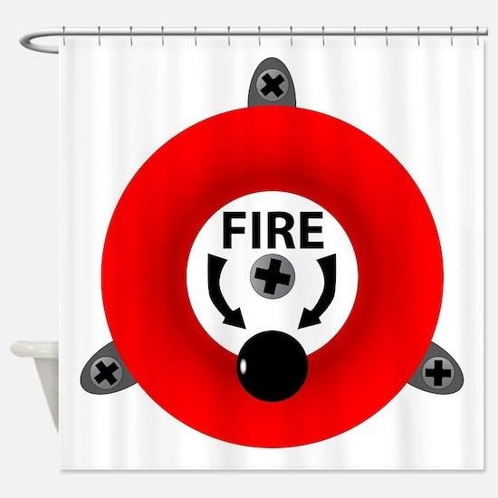Fire Bell Shower Curtain