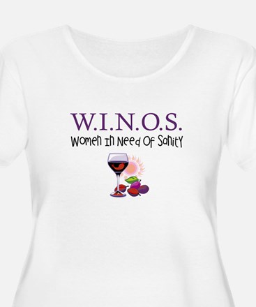 W.I.N.O.S. Sanity Plus Size T-Shirt