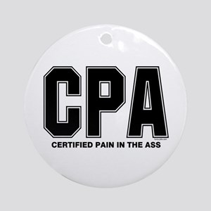 CPA Pain Round Ornament