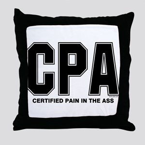 CPA Pain Throw Pillow