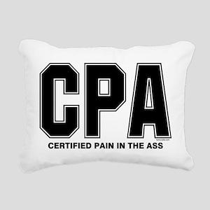 CPA Pain Rectangular Canvas Pillow
