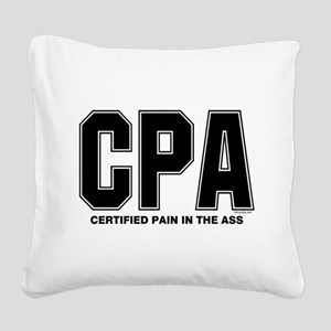 CPA Pain Square Canvas Pillow