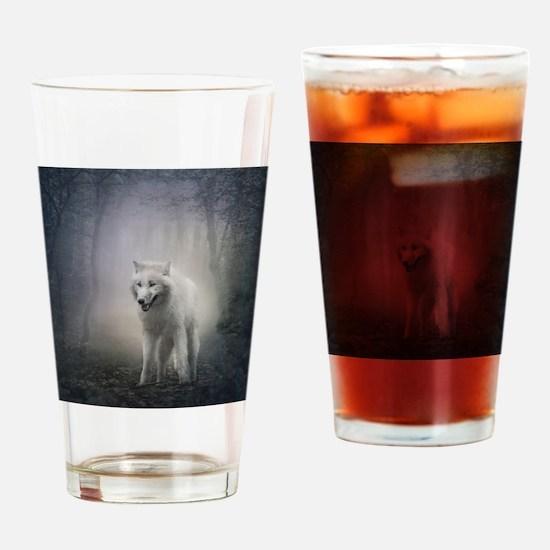 White Wolf Drinking Glass